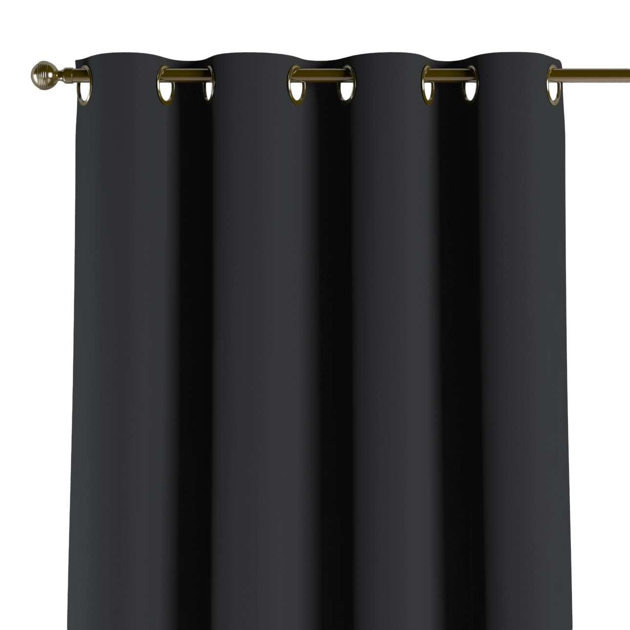 Mörkläggande gardin med öljetter 1 längd 140x260 cm i kollektionen Blackout (mörkläggande), Tyg: 269-99