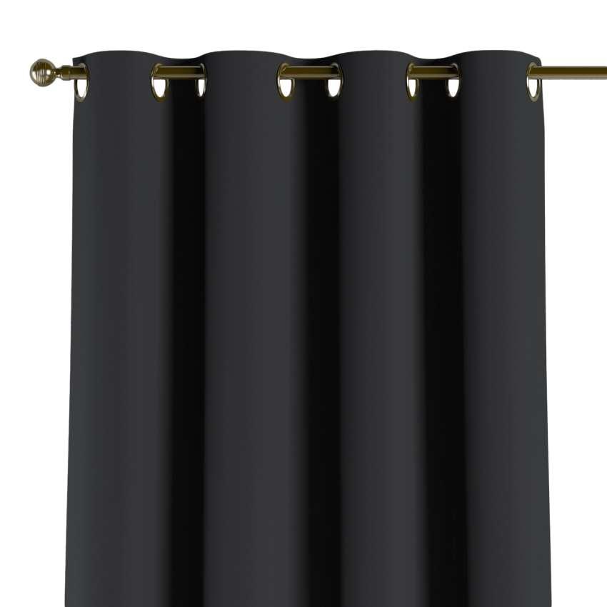 Gardin mørklægning med øskner, Sort, 140x260 cm - Dekoria