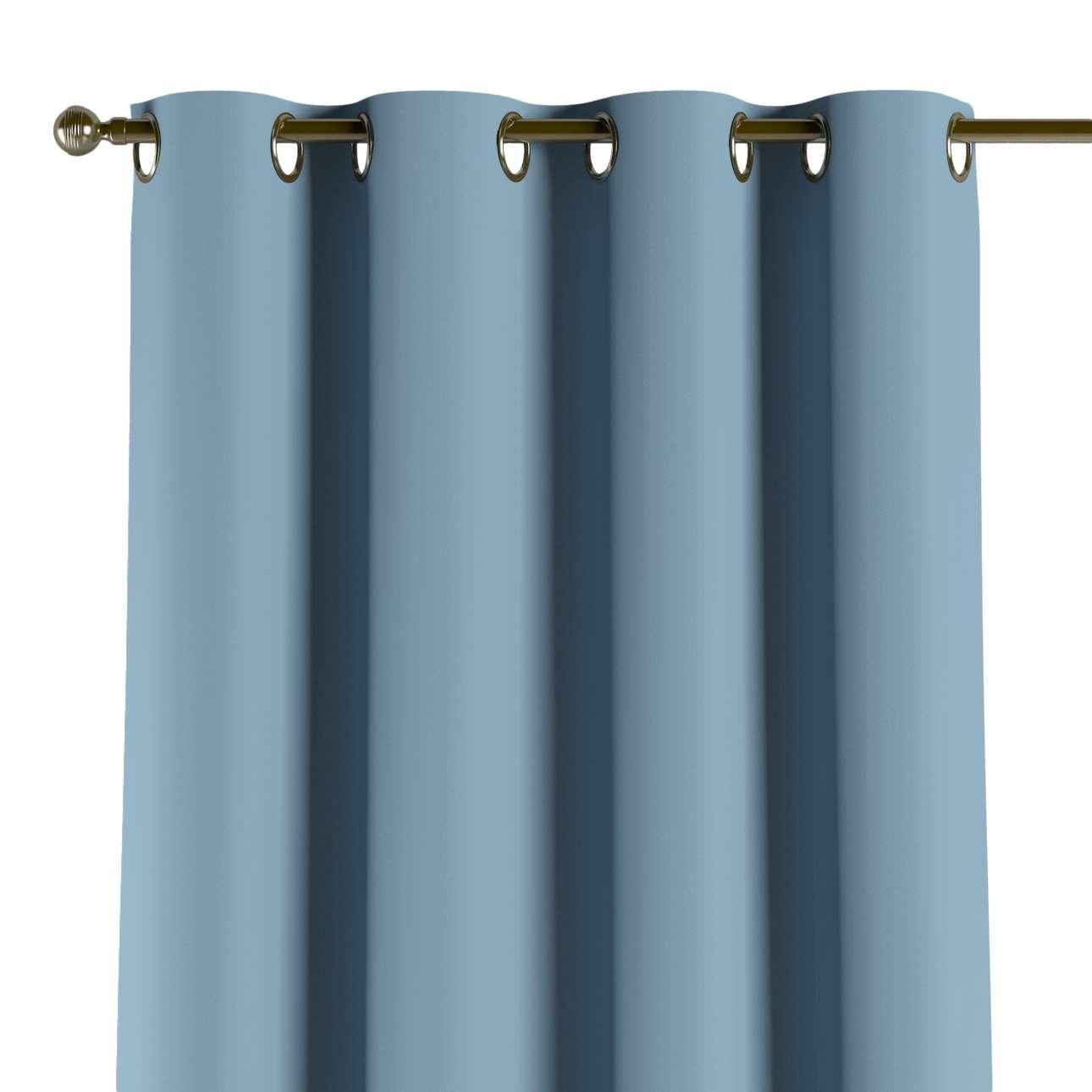 Verdunklungsvorhang mit Ösen, blau, 1 Stck. 140 × 260 cm, Blackout (verdunkelnd)