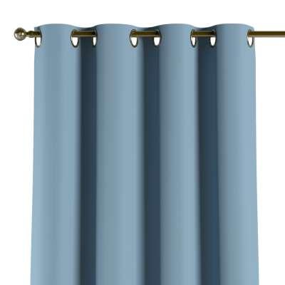 Verdunklungsvorhang mit Ösen 269-08 blau Kollektion Blackout (verdunkelnd)