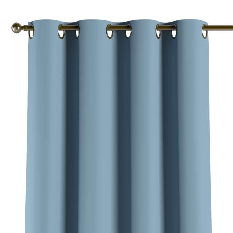 Mörkläggande gardin med öljetter 1 längd i kollektionen Blackout (mörkläggande), Tyg: 269-08
