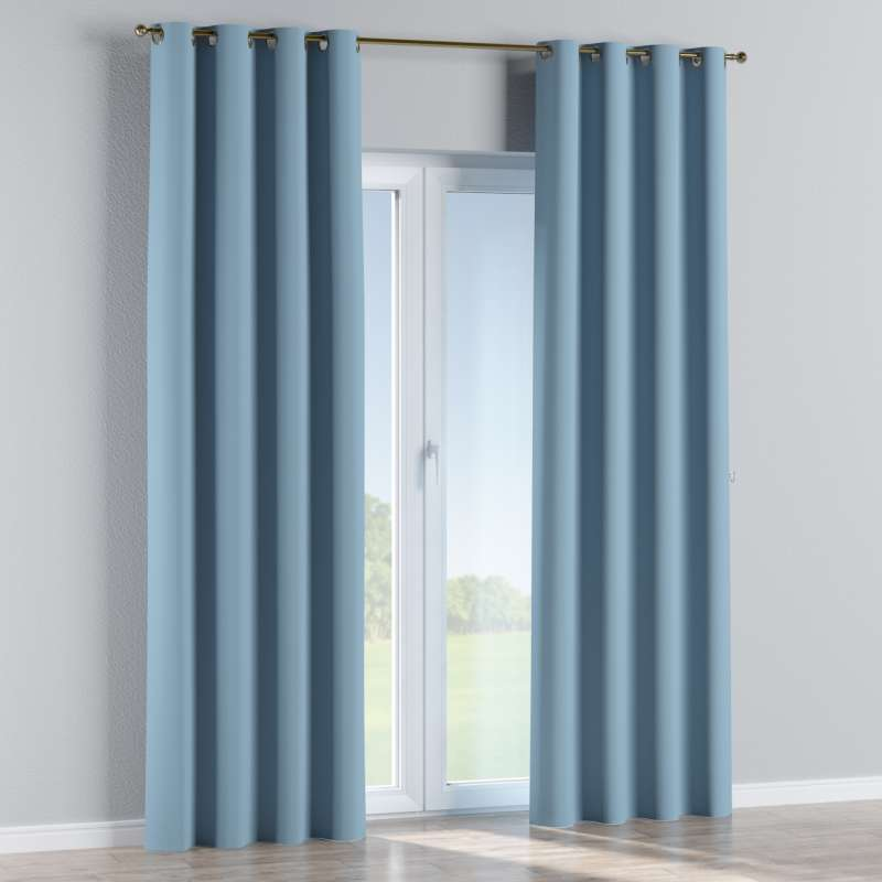 Blackout eyelet curtain in collection Blackout, fabric: 269-08