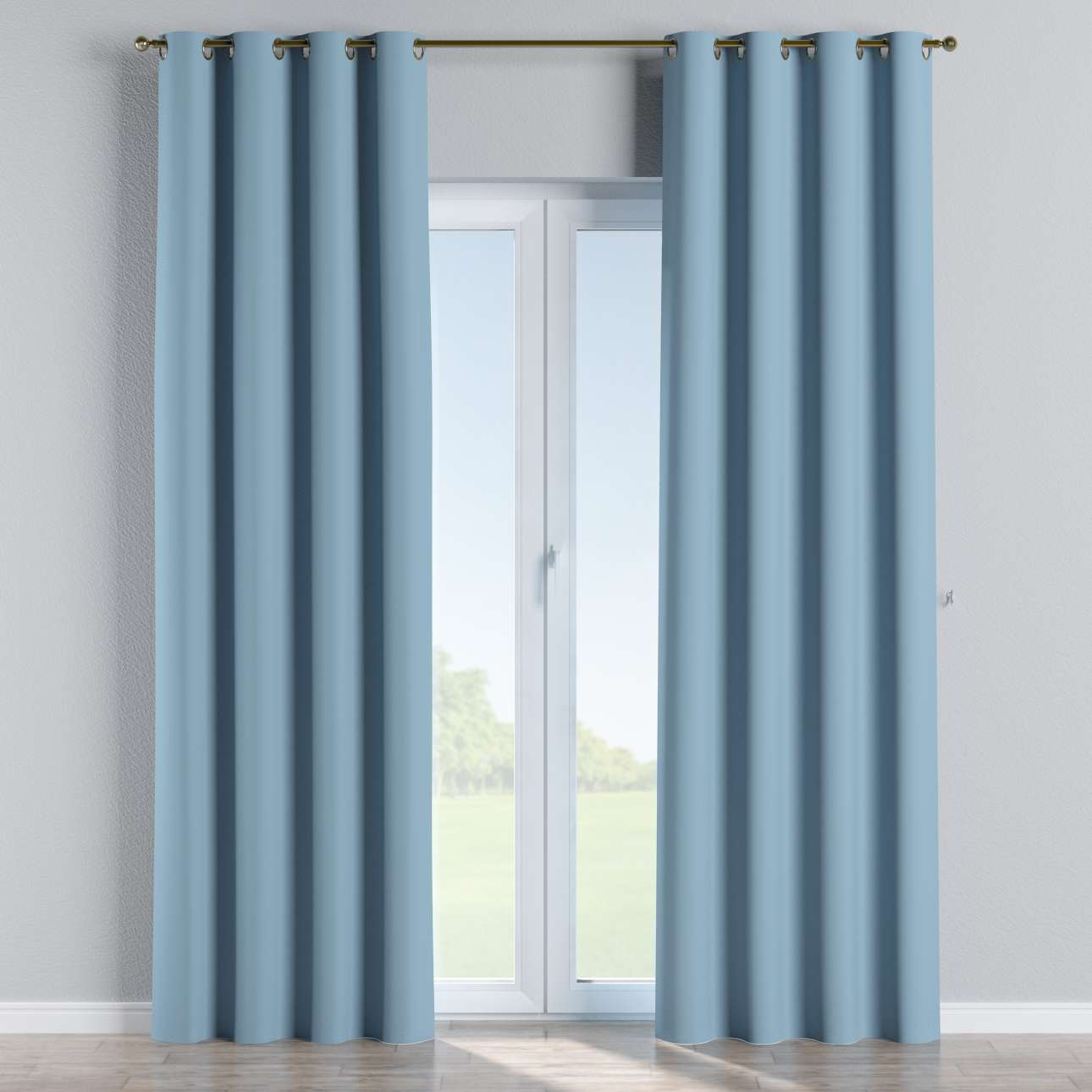 verdunklungsvorhang mit sen blau dekoria. Black Bedroom Furniture Sets. Home Design Ideas