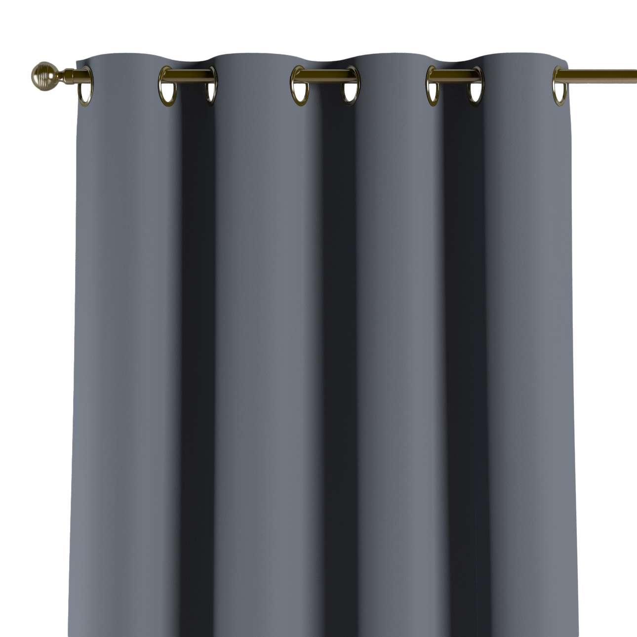 Gardin lystet med maljer 1 stk. 140 × 260 cm fra kolleksjonen Blackout (mørklegging), Stoffets bredde: 269-76
