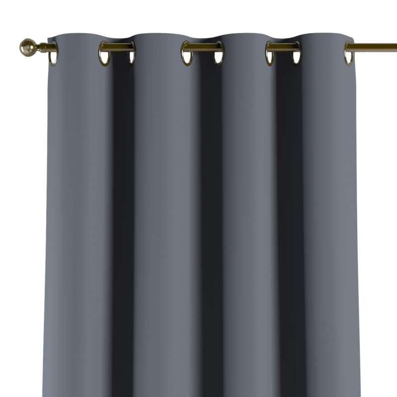 Závěs zatemňující na kroužcích v kolekci Blackout, látka: 269-76