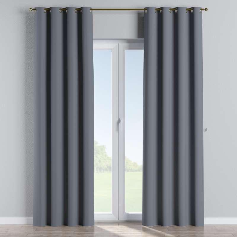 Mörkläggande gardin med öljetter 1 längd i kollektionen Blackout (mörkläggande), Tyg: 269-76