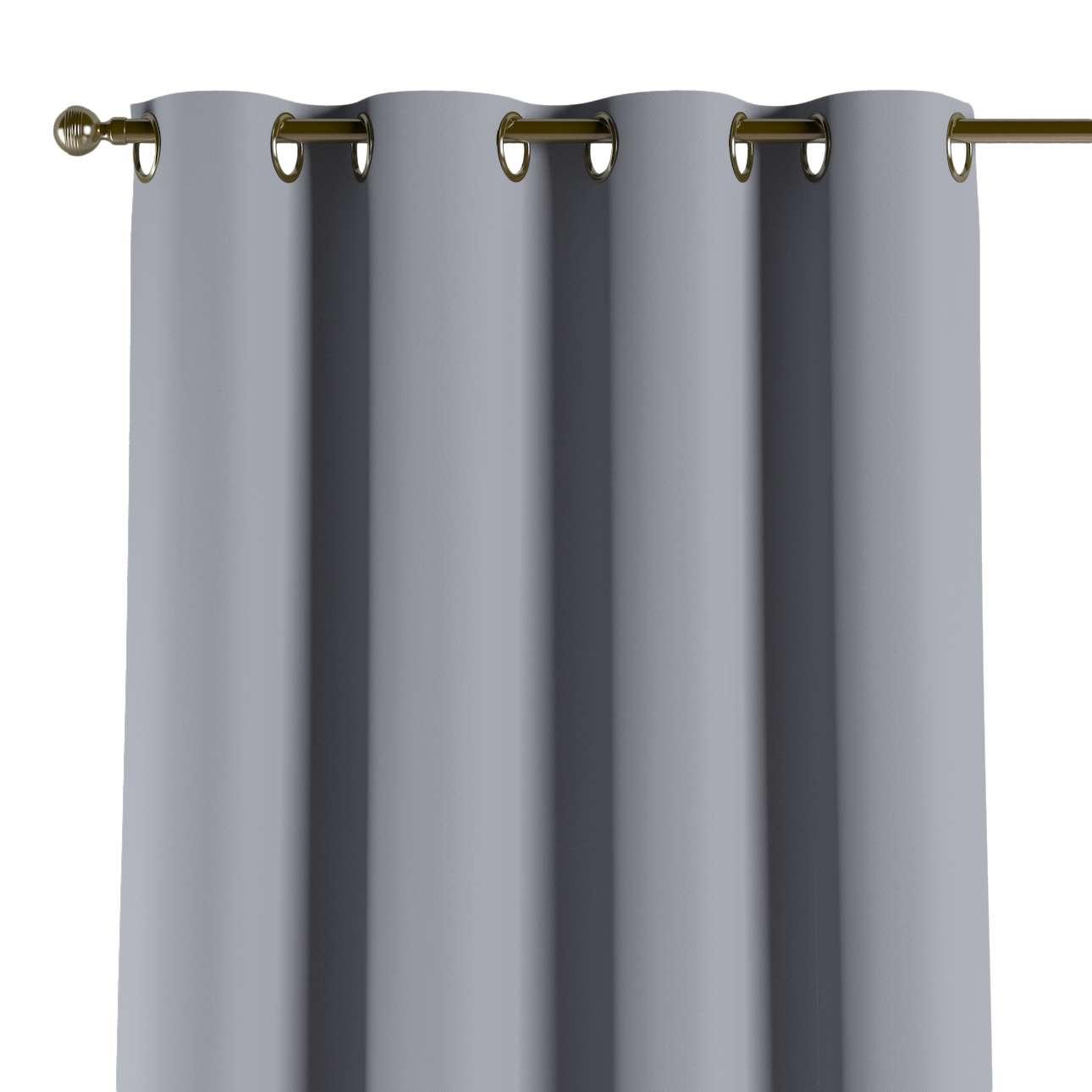 Mörkläggande gardin med öljetter 1 längd 140x260 cm i kollektionen Blackout (mörkläggande), Tyg: 269-96