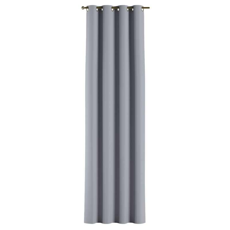 Mörkläggande gardin med öljetter 1 längd i kollektionen Blackout (mörkläggande), Tyg: 269-96