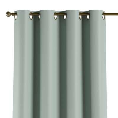 Užuolaidos temdančios žiedinės 1vnt. 269-61 pastelinis mėtinis žakardinis audinys su struktūriniu paviršiumi Kolekcija Blackout