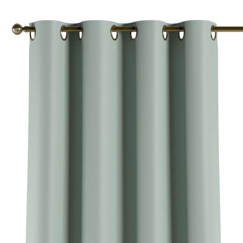 Mörkläggande gardin med öljetter 1 längd i kollektionen Blackout (mörkläggande), Tyg: 269-61