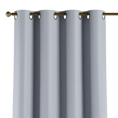 Užuolaidos temdančios žiedinės 1vnt. 269-62 pastelinis dangaus/pilko atspalvio žakardinis audinys su struktūriniu paviršiumi Kolekcija Blackout