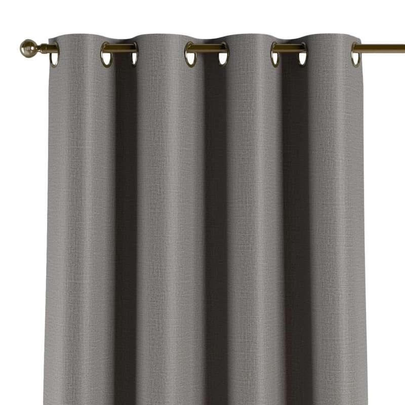 Mörkläggande gardin med öljetter 1 längd i kollektionen Blackout (mörkläggande), Tyg: 269-63