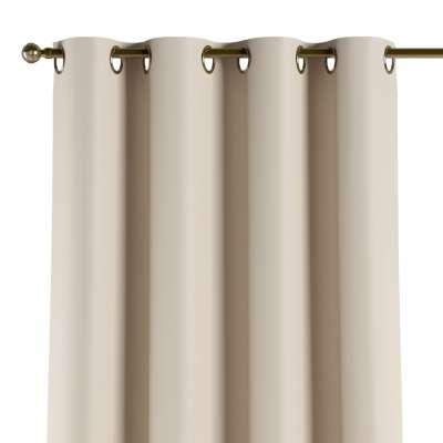 Užuolaidos temdančios žiedinės 1vnt. 269-66 Kreminės spalvos žakardinis audinys su struktūriniu paviršiumi Kolekcija Blackout