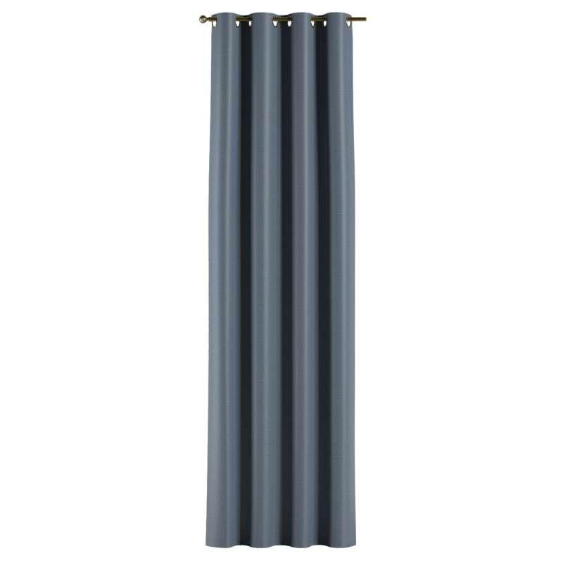 Mörkläggande gardin med öljetter 1 längd i kollektionen Blackout (mörkläggande), Tyg: 269-67