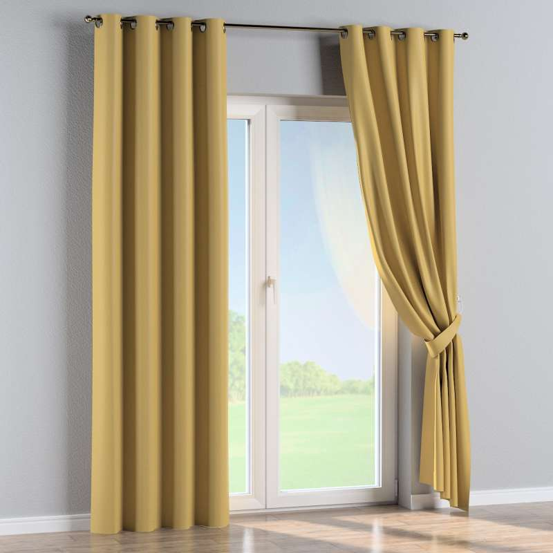 Blackout eyelet curtain in collection Blackout, fabric: 269-68
