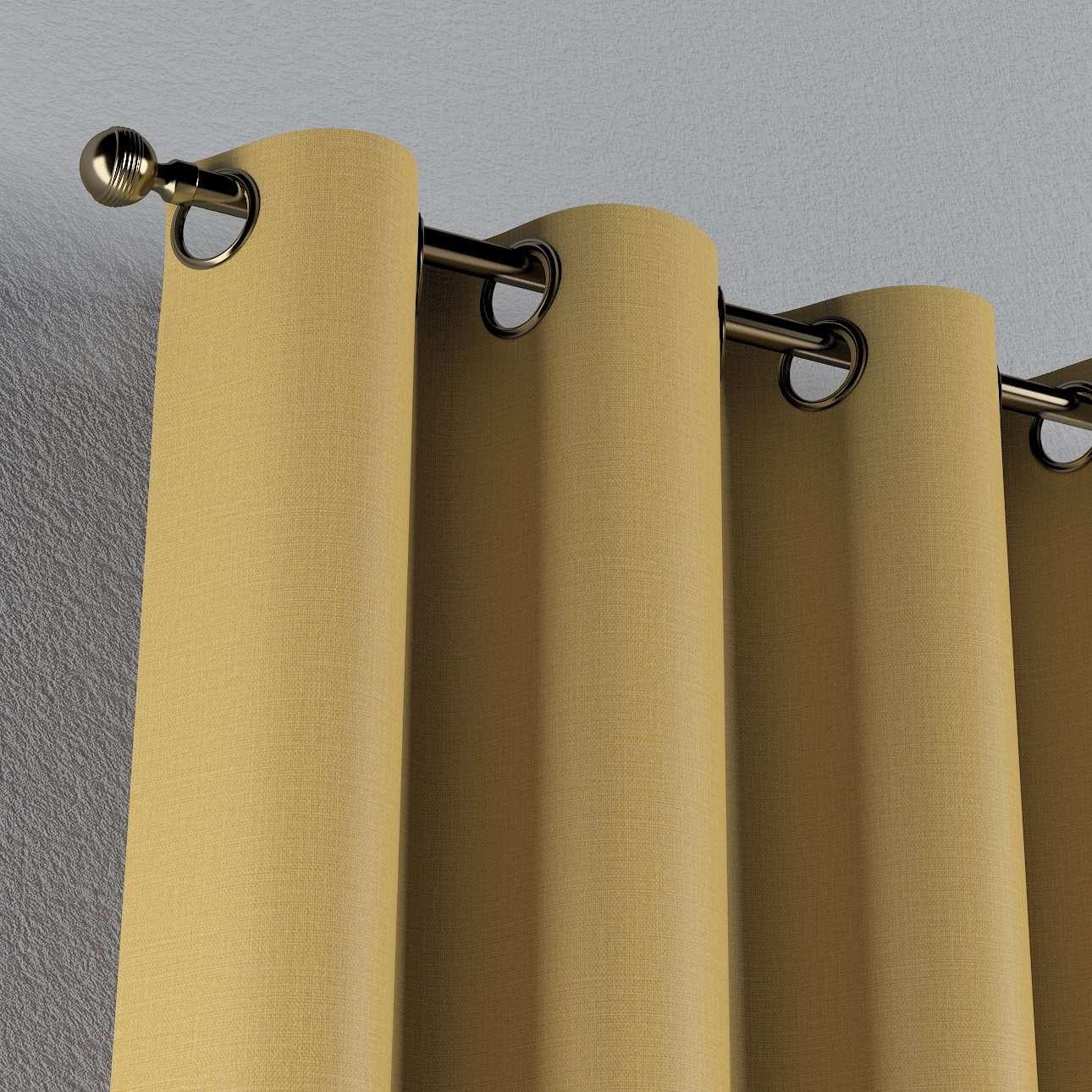 Mörkläggande gardin med öljetter 1 längd i kollektionen Blackout (mörkläggande), Tyg: 269-68