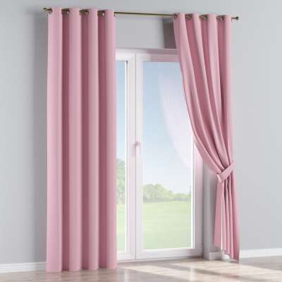 Blackout eyelet curtains 269-92 rose bud pink Collection Royal Blackout