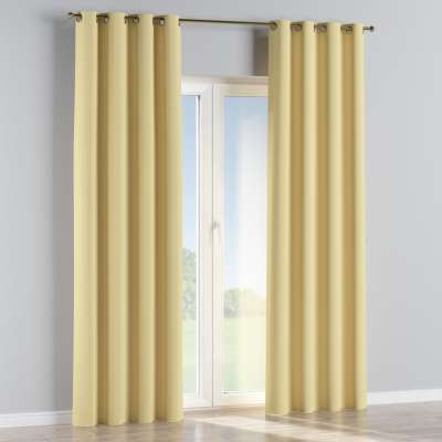 Blackout eyelet curtains 269-12 yellow   Collection Royal Blackout