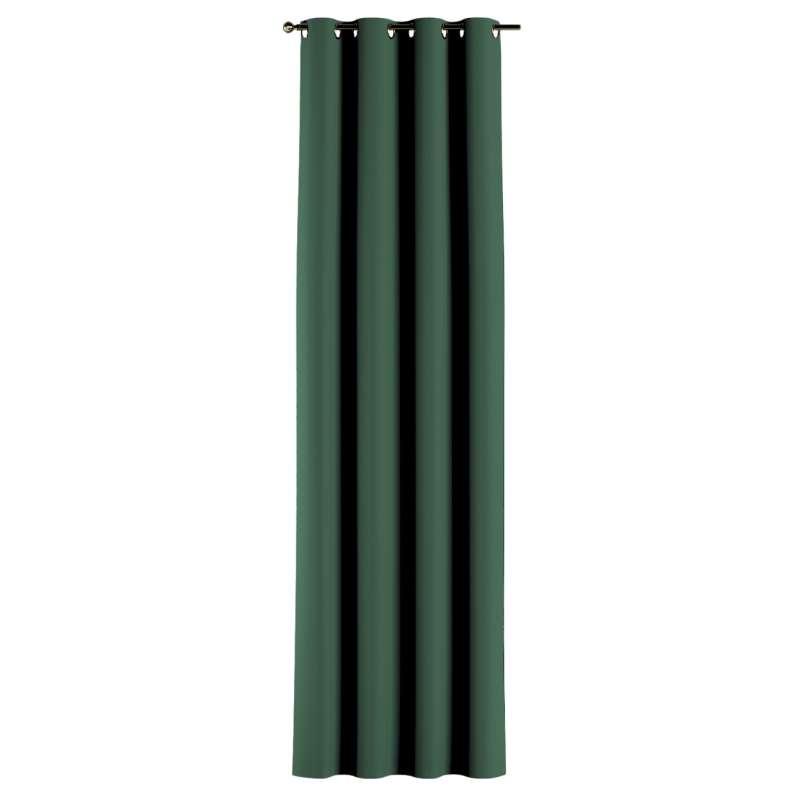 Mörkläggande gardin med öljetter 1 längd i kollektionen Blackout (mörkläggande), Tyg: 269-18