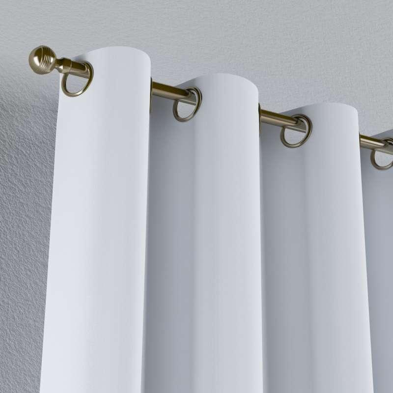 Mörkläggande gardin med öljetter 1 längd i kollektionen Blackout (mörkläggande), Tyg: 269-01