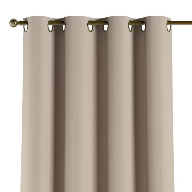 Mörkläggande gardin med öljetter 1 längd i kollektionen Blackout (mörkläggande), Tyg: 269-00