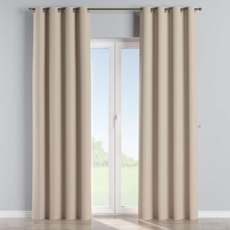 Blackout eyelet curtain in collection Blackout, fabric: 269-00