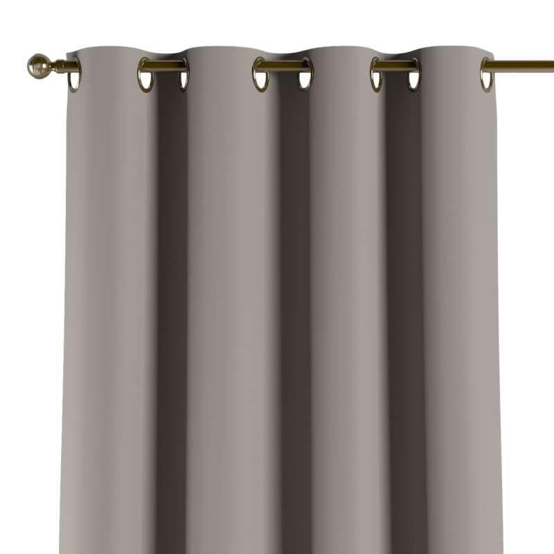 Mörkläggande gardin med öljetter 1 längd i kollektionen Blackout (mörkläggande), Tyg: 269-81