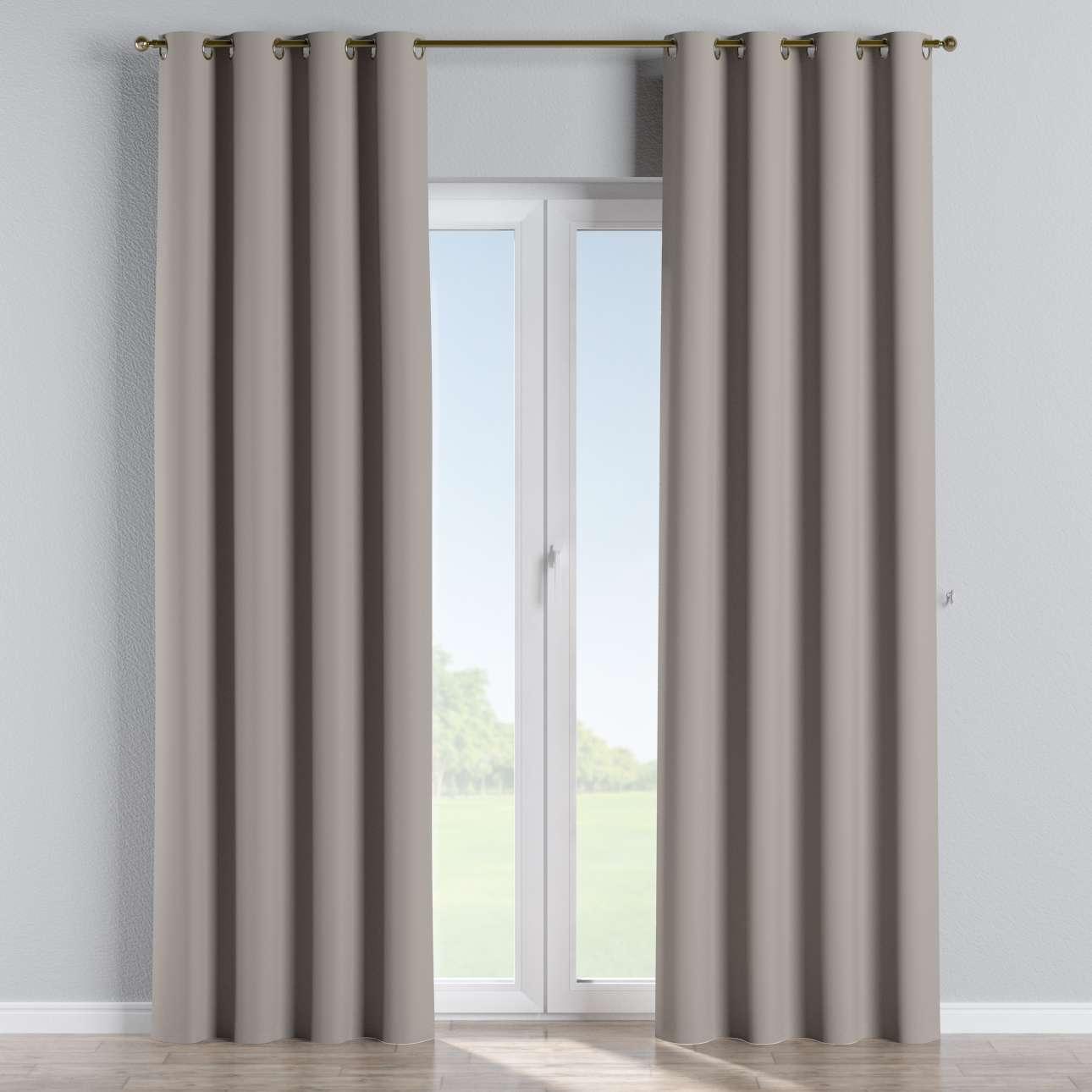 Mörkläggande gardin med öljetter 1 längd 140x260 cm i kollektionen Blackout (mörkläggande), Tyg: 269-81