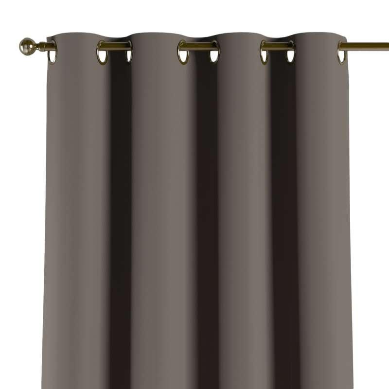 Mörkläggande gardin med öljetter 1 längd i kollektionen Blackout (mörkläggande), Tyg: 269-80