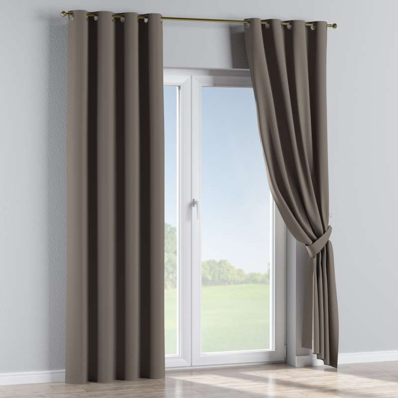 Blackout eyelet curtain in collection Blackout, fabric: 269-80
