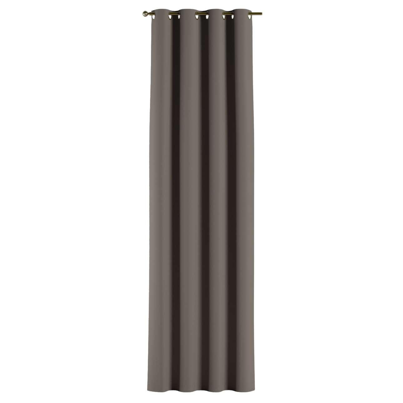 Gardin lystet med maljer 1 stk. 140 × 260 cm fra kolleksjonen Blackout (mørklegging), Stoffets bredde: 269-80