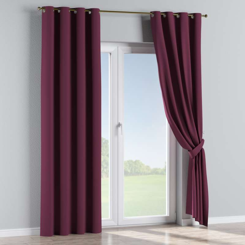 Blackout eyelet curtain in collection Blackout, fabric: 269-53