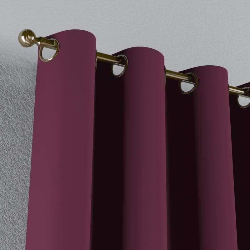 Mörkläggande gardin med öljetter 1 längd i kollektionen Blackout (mörkläggande), Tyg: 269-53