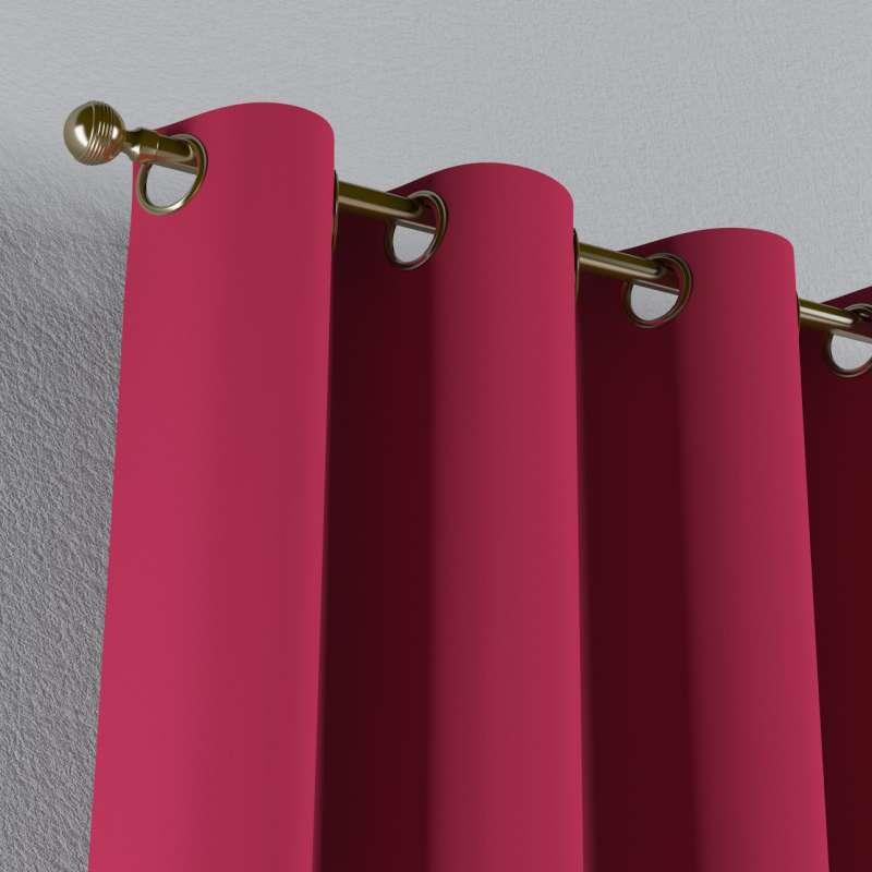 Mörkläggande gardin med öljetter 1 längd i kollektionen Blackout (mörkläggande), Tyg: 269-51