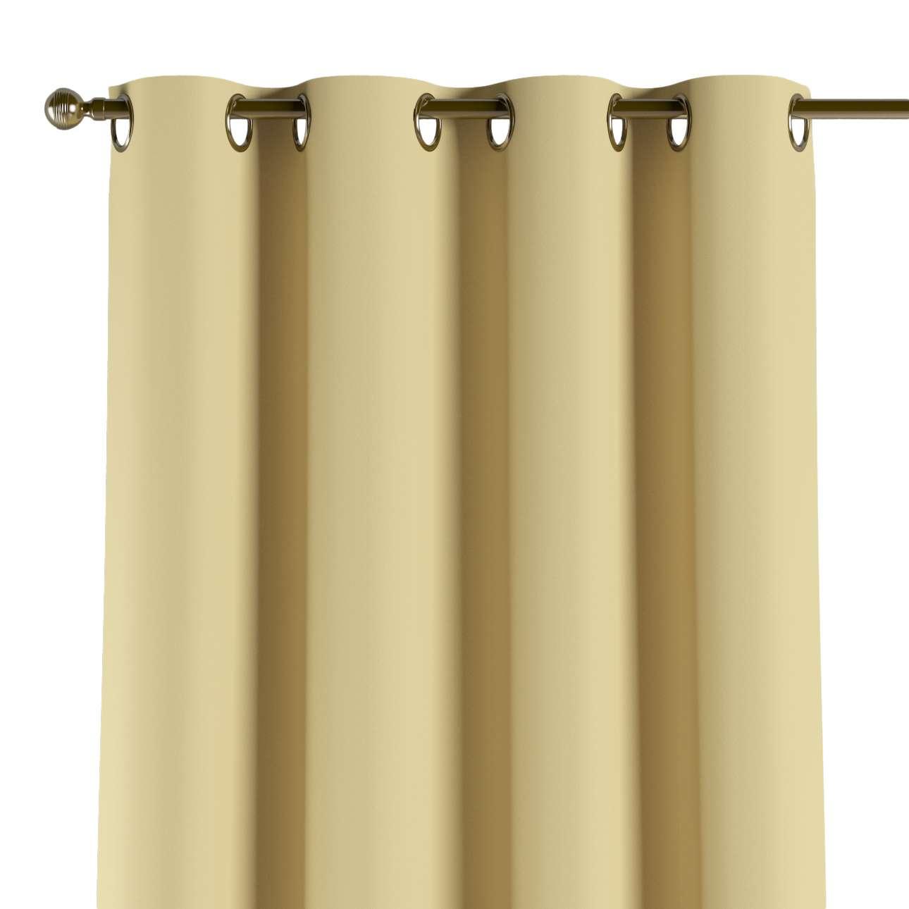 Mörkläggande gardin med öljetter 1 längd 140x260 cm i kollektionen Blackout (mörkläggande), Tyg: 269-12