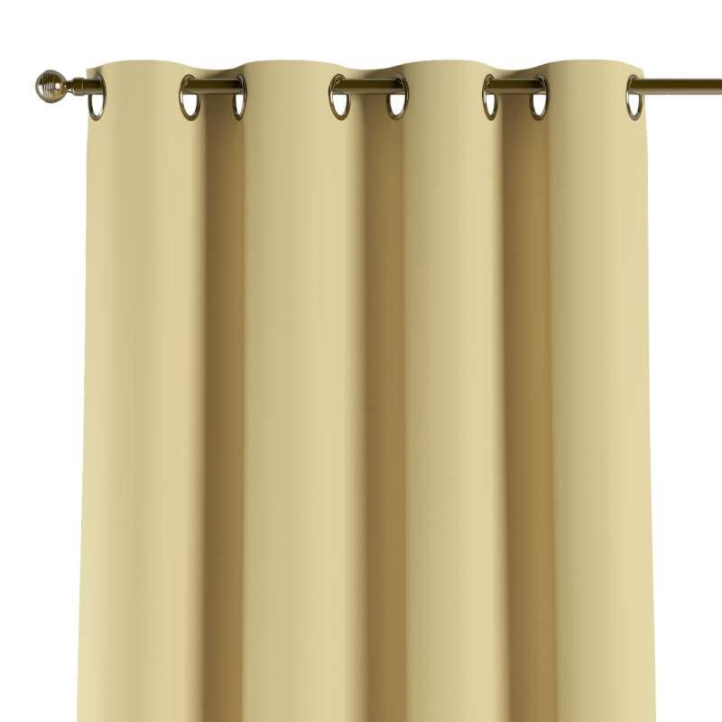 Mörkläggande gardin med öljetter 1 längd i kollektionen Blackout (mörkläggande), Tyg: 269-12