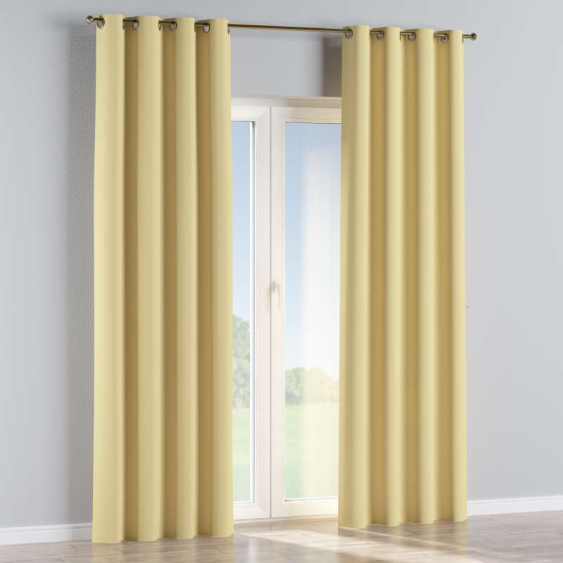 Blackout eyelet curtain in collection Blackout, fabric: 269-12