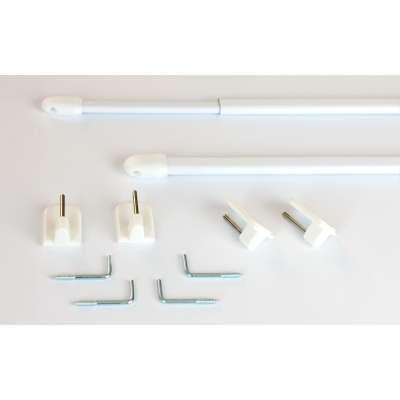 Mini gardinstænger 2 stk. hvid Produkter der er tilgængelige i dette tekstil 161-76 fra kollektionen Bergen - Dekoria.dk
