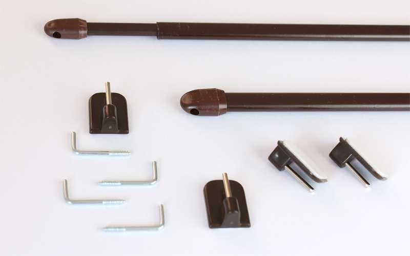 Mini-garniža na vitrážky, hnedá 2ks 80cm