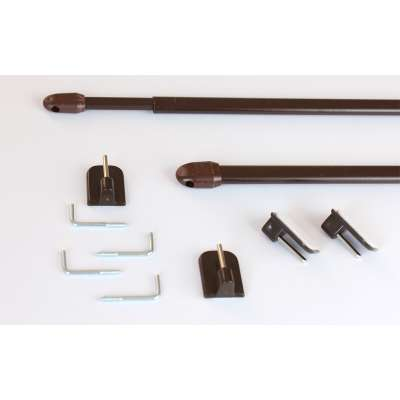 Mini gardinstænger 2 stk. brun Produkter der er tilgængelige i dette tekstil 161-76 fra kollektionen Bergen - Dekoria.dk