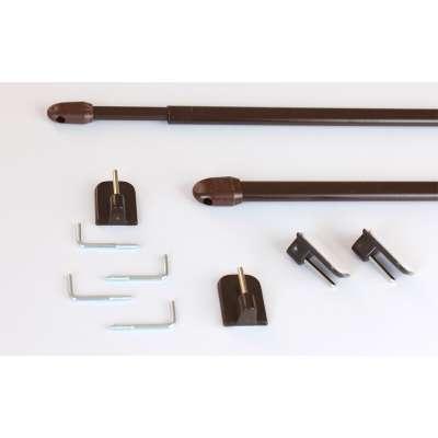 Mini gardinstænger 2 stk. brun Produkter - Dekoria.dk