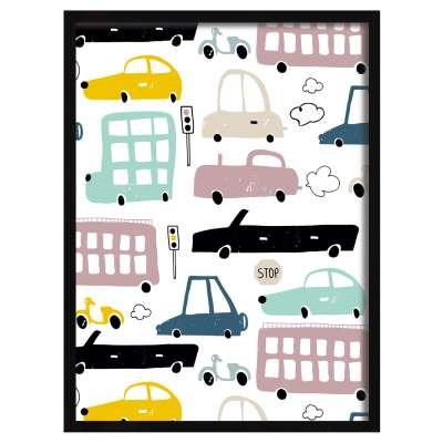 Obrazek Colorful Traffic II 30x40cm Obrazy w ramkach - Yellowtipi.pl