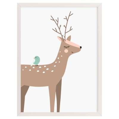 Forest Friends deer 30x40cm Paveikslai ir plakatai - Yellowtipi.lt