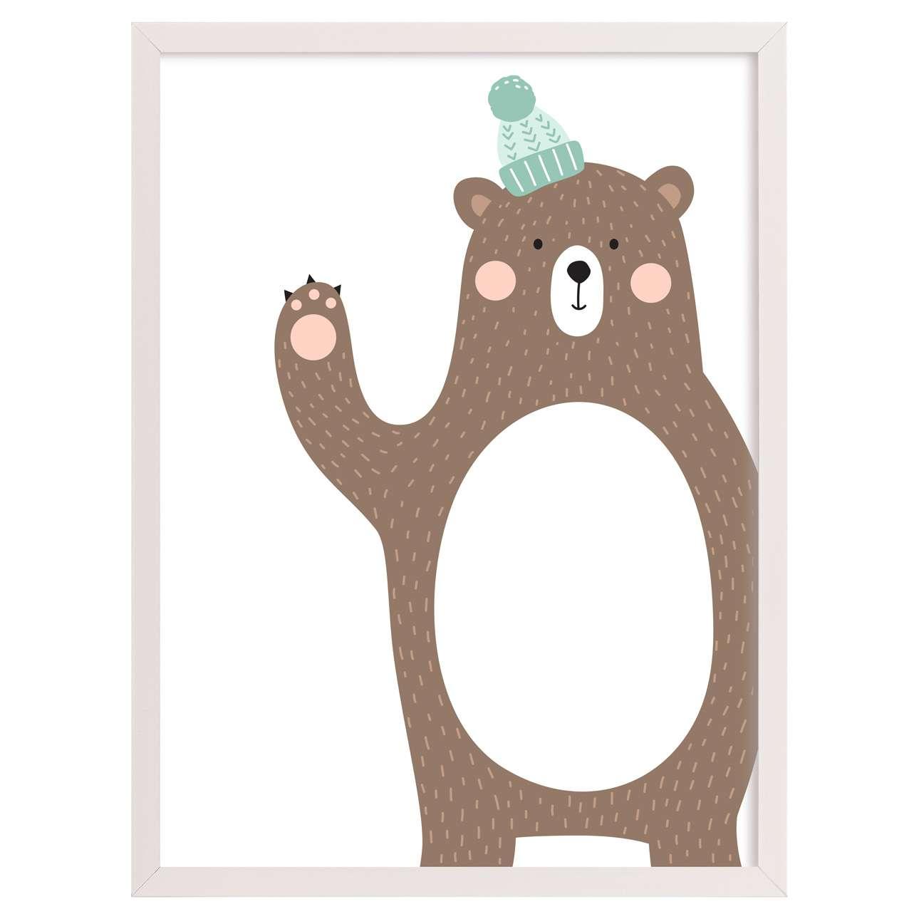 Forest Friends bear 30x40cm