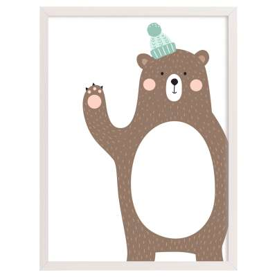 Forest Friends bear 30x40cm Paveikslai ir plakatai - Yellowtipi.lt