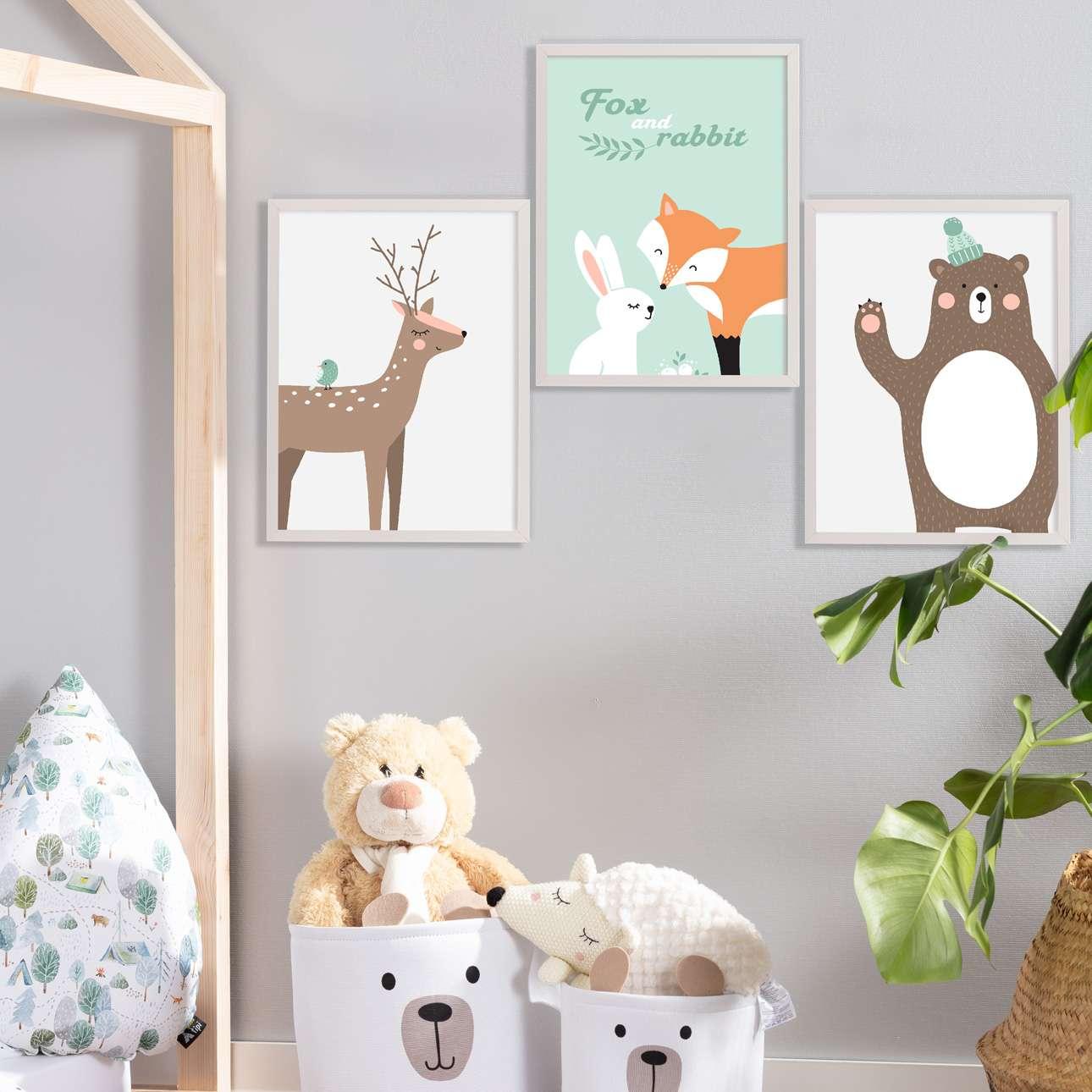 Obrazek Forest Friends bear 30x40cm