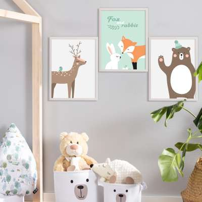 Obrázek Forest Friends bear 30x40 cm