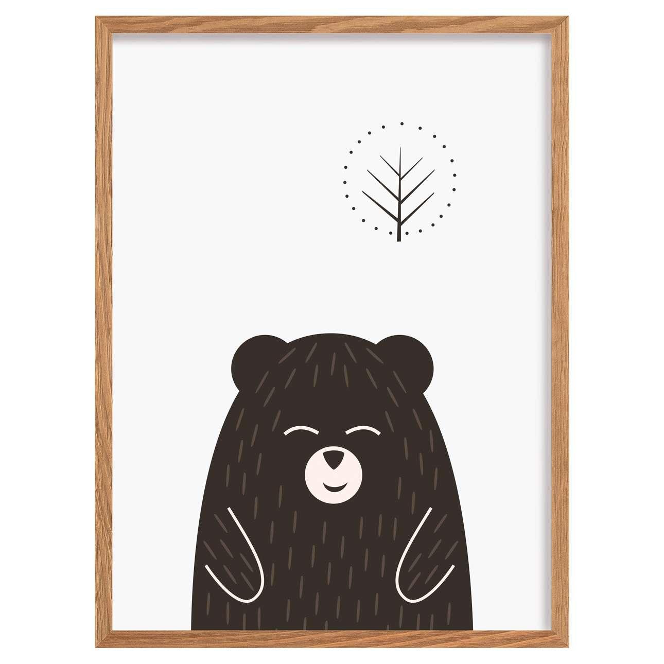 Scandi Forest bear I 30x40cm