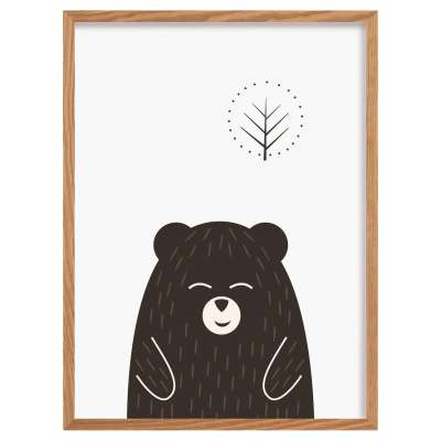Scandi Forest bear I 30x40cm