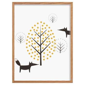 Obrazek Scandi Forest fox 30x40cm